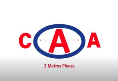 CAA two meters logo