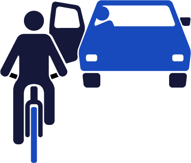 bike and car collision icon