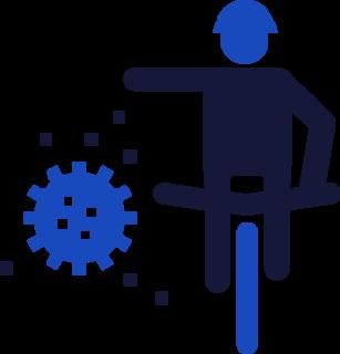 biking during covid icon