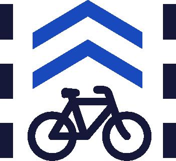 bike lane symbol icon