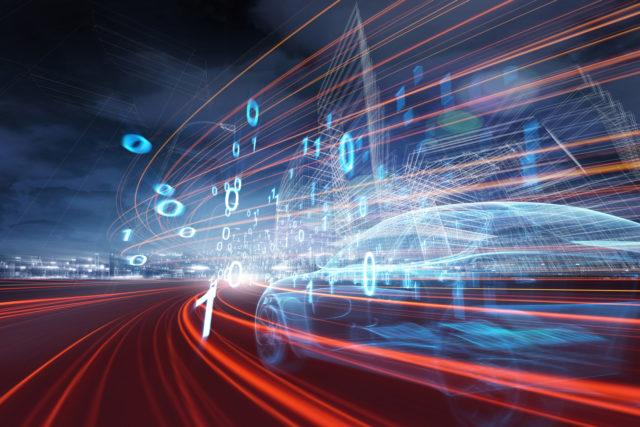 Car moving through data