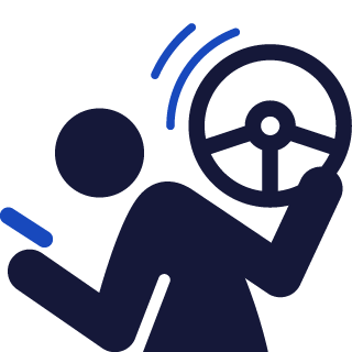 driver on phone icon