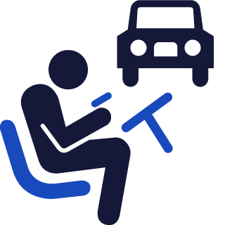 texting while driving icon