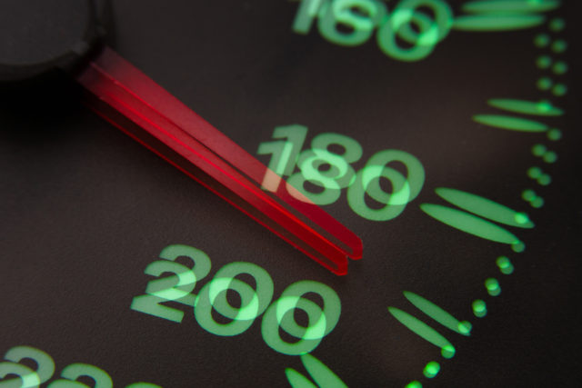Double vision distortion of speedometer