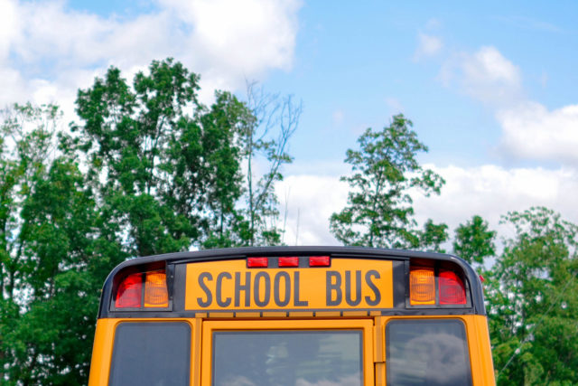 Back of school bus